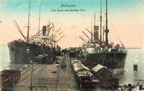 Home Overlooking Melbournes Shipping Ports by Melbourne Port Melbourne Railway Pier Journey S End