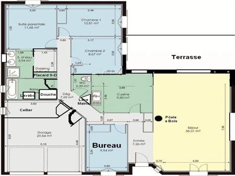 maison 3 chambre awesome plan de maison de luxe plain pied ideas
