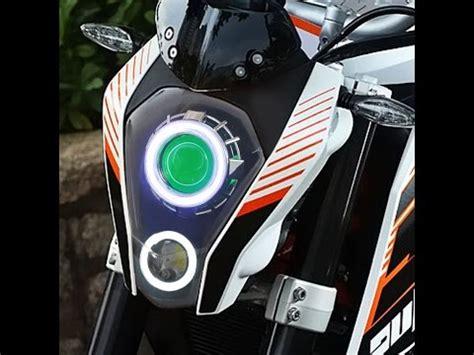 Bike Modification In Gorakhpur by Ktm Duke Modified Headlight Duke Headlight Modification