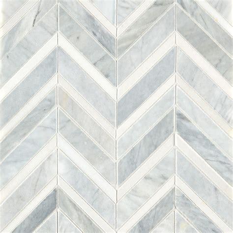 Marble Mosaic Tile by Alps Honed Polished Chevron Marble Mosaic Tile Mandarin