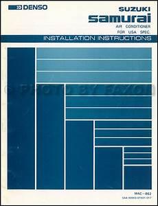1986 Suzuki Samurai Wiring Diagram : 1986 1987 suzuki samurai a c installation instructions ~ A.2002-acura-tl-radio.info Haus und Dekorationen