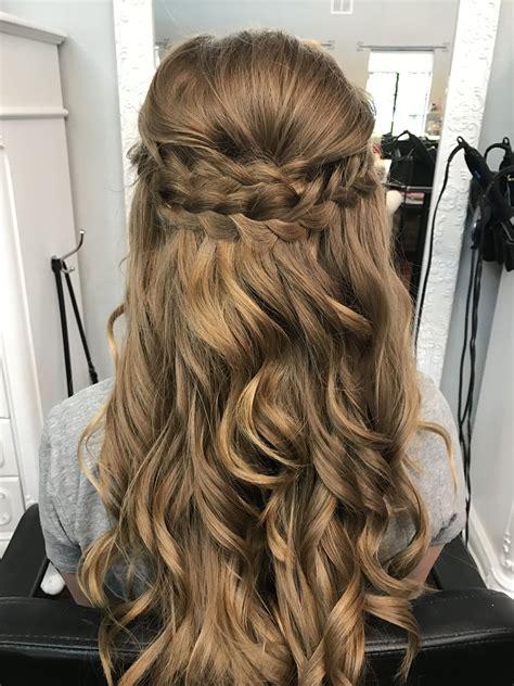 Half Braided Half Curly Hairstyles by Braided Half Up Half Prom Hair Bombshell Hair