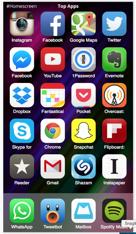 top iphone apps view the top apps this week courtesy of the new iphone