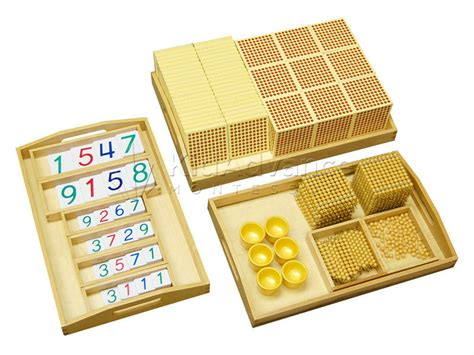 montessori materials complete golden bead material buy