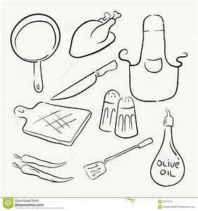 Cooking Kitchen Equipment Stock Vector - Image: 60175715