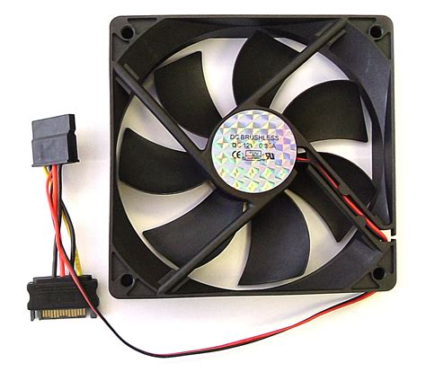 and cool fan atx case fan pc fan sata power connections 120mm