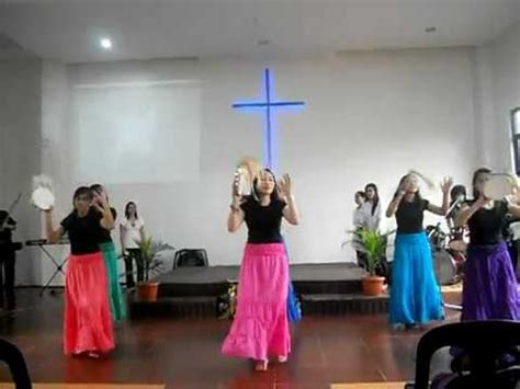 tambourine dance church  fire youtube