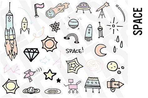 Space Doodle Clipart  Illustrations  Creative Market