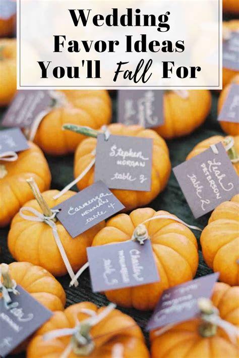 wedding favor ideas youll fall  pumpkin wedding