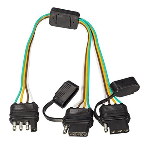 opt7 y splitter 4 tow pin connector adapter harness wiring for truck tailgate attach to trailers