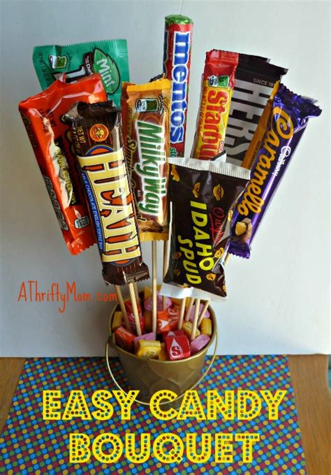 easy candy bouquet diy fathers day gift idea  thrifty