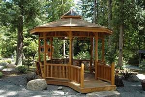Wooden Garden Gazebo With Stairs Decor References
