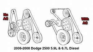 2006-2008 Dodge 2500 5 9l And 6 7l Diesel Serpentine Belt Diagram