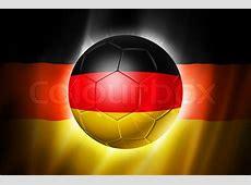 3D soccer ball with Germany team flag, world football cup