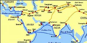 Map Of Trade Routes Used On The Silk Road