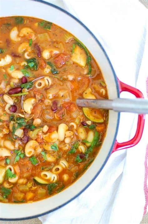 recipe minestrone soup homemade minestrone soup recipe a cedar spoon