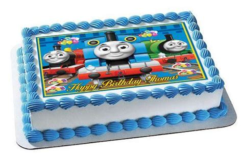 thomas train  edible birthday cake  cupcake toppe