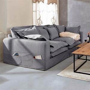 Sofa Kaufen Online : xxl sofa carcassonne grau bezug aus baumwolle online kaufen mirabeau living room in 2019 ~ Eleganceandgraceweddings.com Haus und Dekorationen