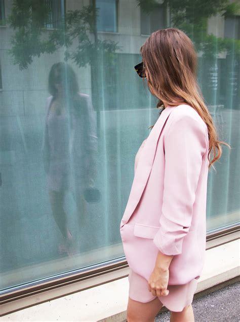 millennial pink pink slipdress pink blazer pink jacket
