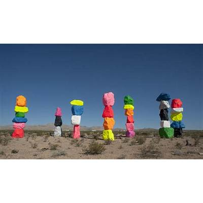 'Seven Magic Mountains' adds vivid color to the desert