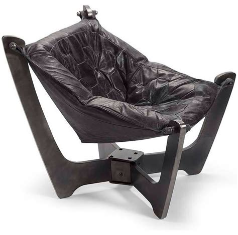 sling black leather chair contemporary armchairs and