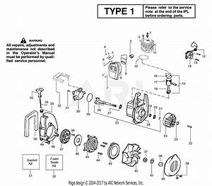 Poulan Bv200 Gas Blower Type 1 Parts Diagram For Engine Assembly Type 1