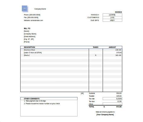 excel invoice templates word ai psd google docs