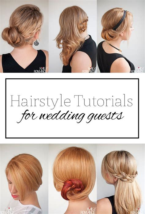 Top 5 hairstyle tutorials for wedding guests   Hair Romance