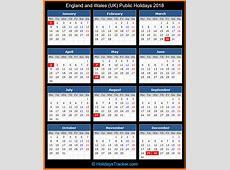 England and Wales UK Public Holidays 2018 – UK Holidays
