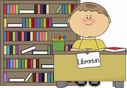 Classroom Librarian Boy Clip Library Desk Books