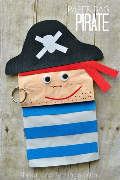 paper bag pirate craft for classroom idea s 280 | fd04e7ae3eb8a2027d5eaf1703e7e186 summer kid crafts summer kids
