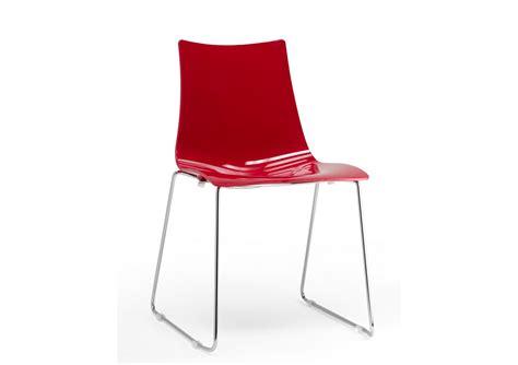 Chaise Design Zebra Pieds Luge Par Scab Design