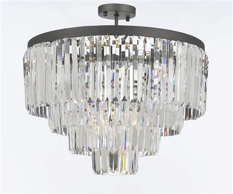 G Gallery Chandeliers Odeon Crystal Glass Fringe Tier