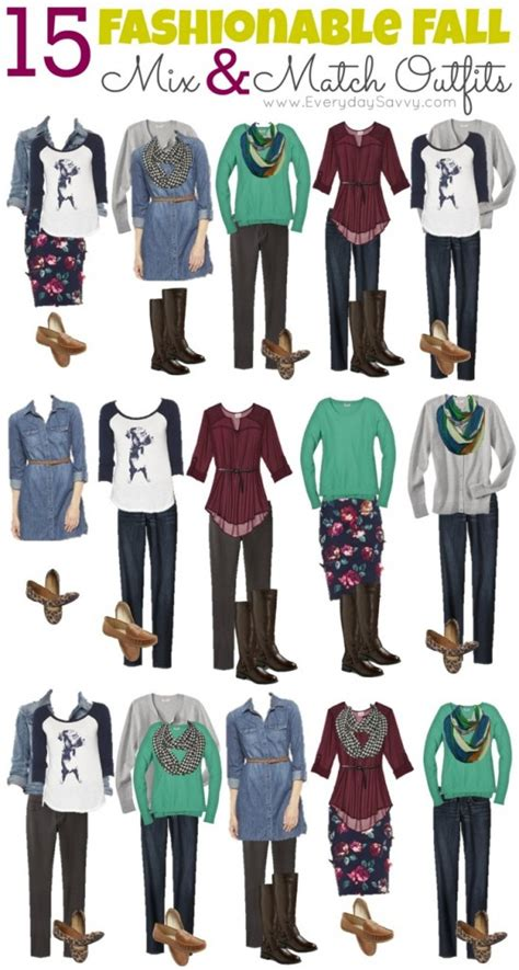 mix matching mix and match fall outfits from target