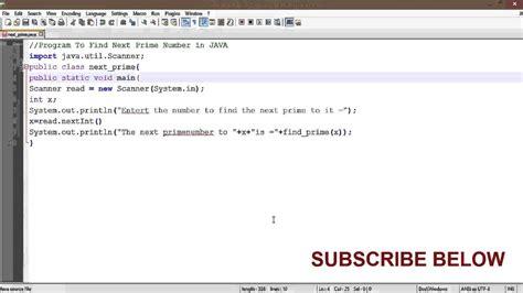 programe  finding  prime number  java youtube
