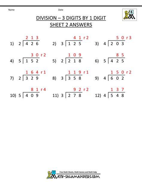 free division worksheets