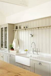 Tongue and groove backsplash country kitchen devol for What kind of paint to use on kitchen cabinets for african wall art and decor