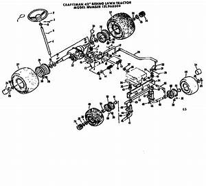 Steering And Front Axle Diagram  U0026 Parts List For Model