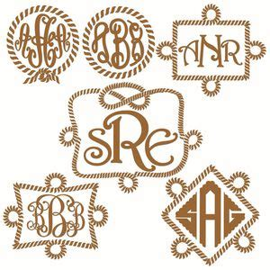 circle rope  frame svg cuttable designs