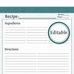 Recipe card full page fillable printable pdf by for Full page recipe template for word
