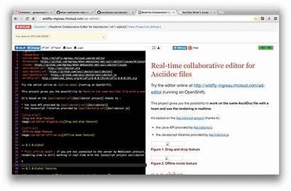 Editor Asciidoc Offline Github Collaborative Feature Mode