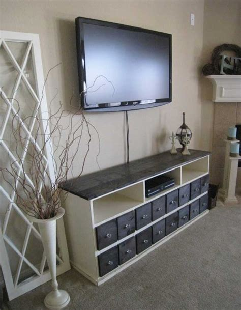 pottery barn media console 50 creative diy tv stand ideas for your room interior