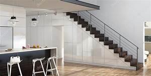 escalier entre cuisine et salon la petite maison ann es With escalier entre cuisine et salon