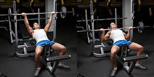 grip incline bench press weight