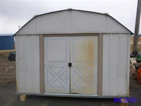 metal storage shed 8 x 10 has floor northstar