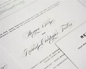 Simple Traditional Classic Wedding Invitations In Gray