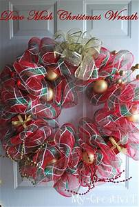 My CreativiT Deco Mesh Christmas Wreath