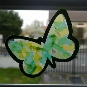 Papillon Papier De Soie : vitraux printaniers papillons pinterest papier ~ Zukunftsfamilie.com Idées de Décoration