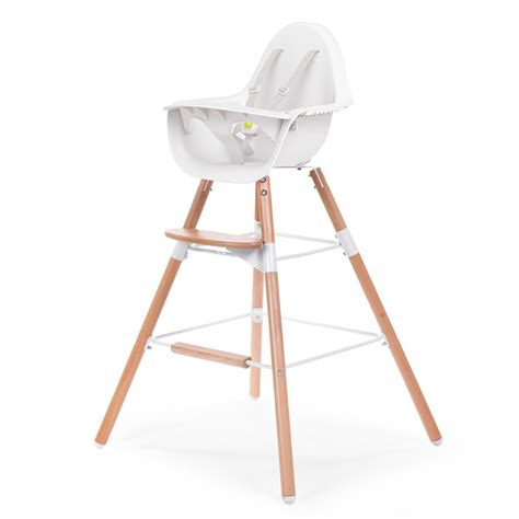 chaise haute bébé évolutive chaise haute évolutive evolu blanc naturel childwood univers bébé smallable