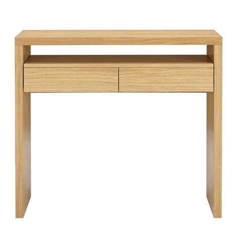 console bureau bois console contemporaine pratique 2 tiroirs blum drawer fr